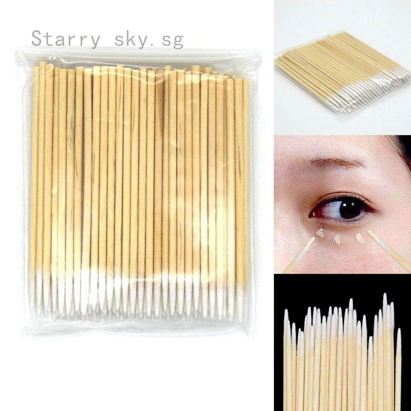 1pc Cotton Swabs Pointed Swab Applicator Q Tips Wooden Sticks New