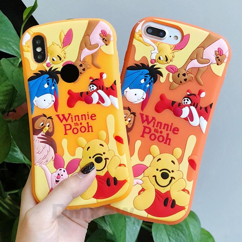 newest 7c262 1ac5b Huawei Nova 3i 3 OPPO F9 A83 F7 F5 A71 A59 A37 Case Cartoon Winnie Pooh  lovely
