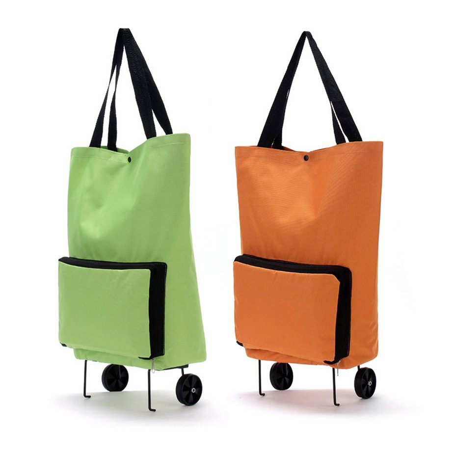 a90c961fbb93 TMR🎁 Large Thickened Canvas Lightweight Foldable Shopping Trolley Wheel Bag