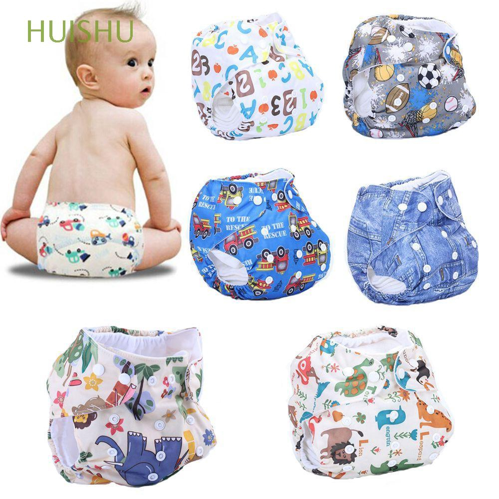 New Baby Anti-water Cloth Diaper Cover Cartoon Baby Diapers Reusable Nappy HS