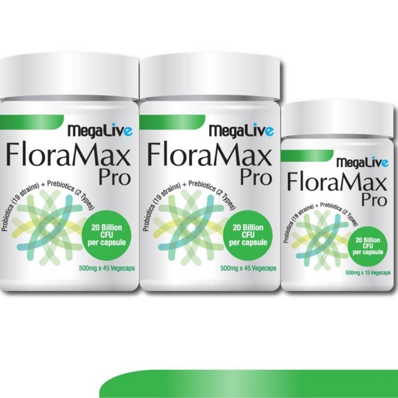 Megalive FloraMax Probiotics 45s x 2 Bottles Free 15s