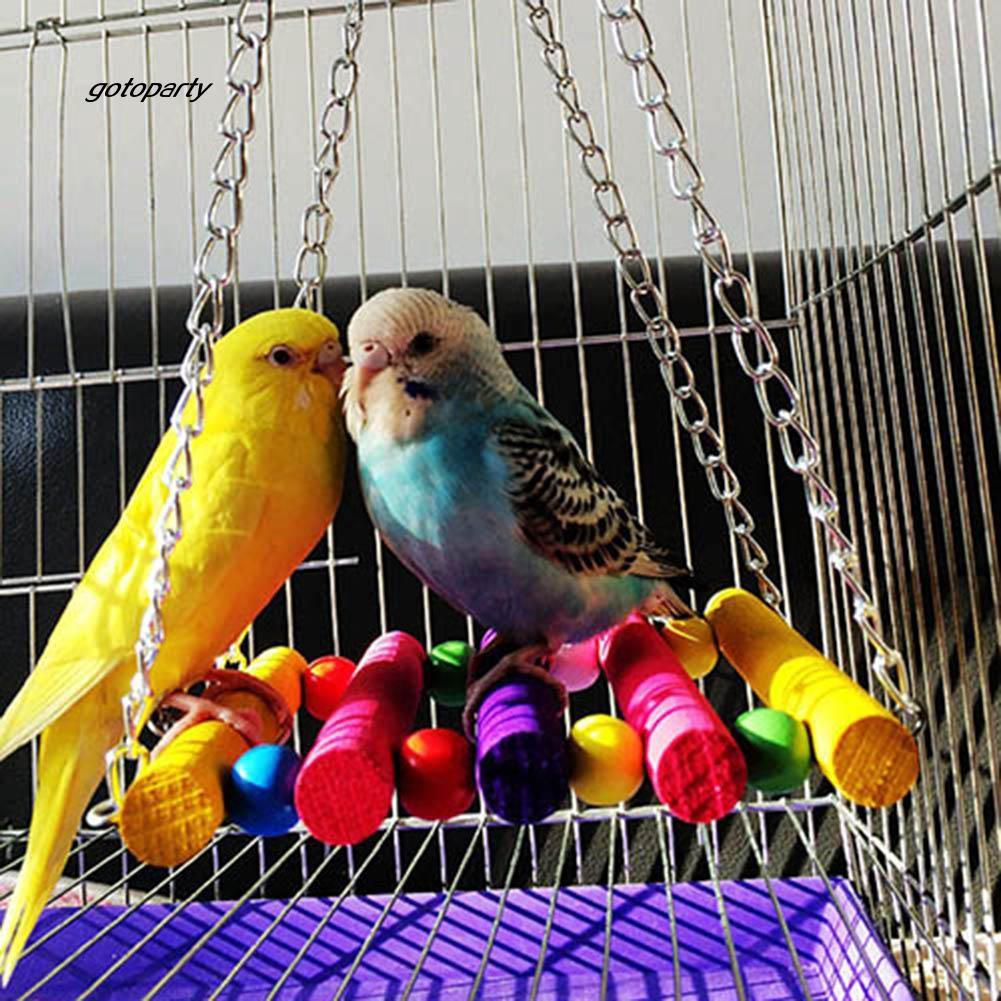 TOGO_Pet Bird Parrot Parakeet Budgie Cockatiel Cage Hammock Swing Toys  Hanging Toy
