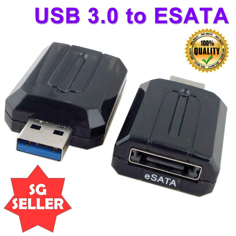 "USB 3.0 to eSATA External SATA 3Gbps Convertor Adapter for 2.5/""and 3.5/"" HDD"