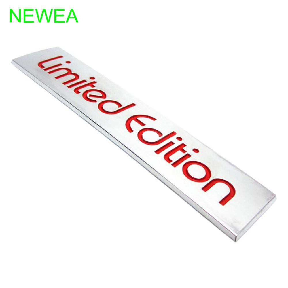 10.4cm x 2.2cm Auto 3D Red Limited Edition Logo Emblem Badge Metal Sticker Decal