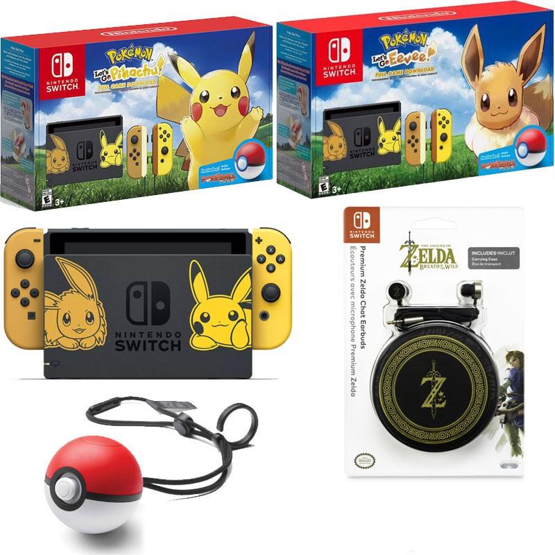 Nintendo Switch Console Pokemon Lets Go Edition+ 1 Year Warranty + FREE  Earphone