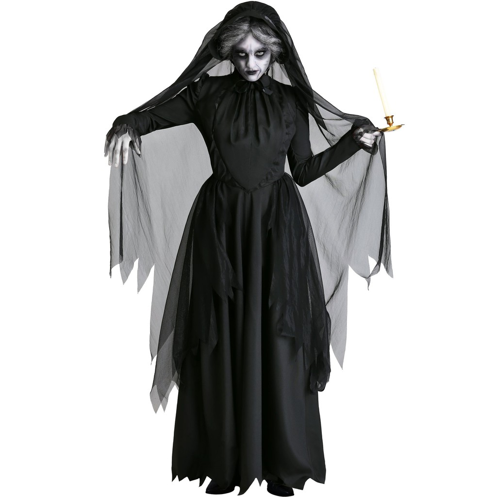 Halloween costume black Wings angel ghost  black dress uniform party queen witch